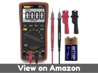 Auto Ranging Digital Multimeter TRMS 6000 with Battery Alligator Clips...