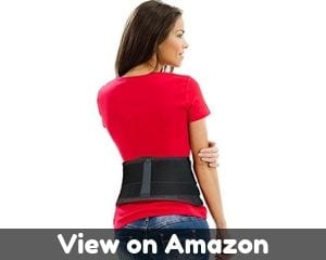 AidBrace Back Brace Support Belt - Lower Back Pain Relief for...
