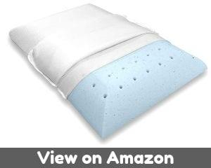 WEEKENDER WKSS30GF Memory Foam Pillow, Standard, Blue