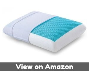 Comfort & Relax Reversible Memory Foam Gel Pillow for Sleeping Cool,...
