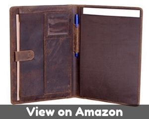 Cool Genuine leather business portfolio by KOMALC