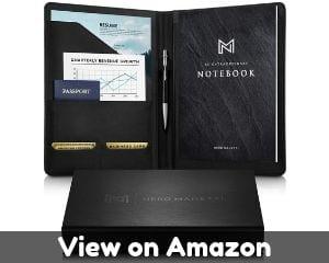 Leather portfolio folder by NERO MANETTI