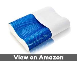 ViscoSoft Cooling Arctic Gel Contour Pillow - Memory Foam Pillow for...