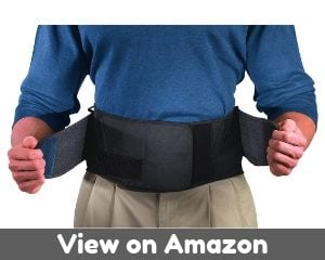 Mueller Adjustable Lumbar Support Back Brace with Removable Pad,...