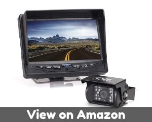 Rear View Safety Backup Camera System with 7' Display (Black)...