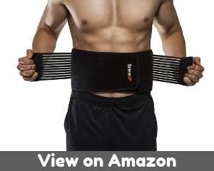 BraceUP Stabilizing Lumbar Lower Back Brace Support Belt Dual...