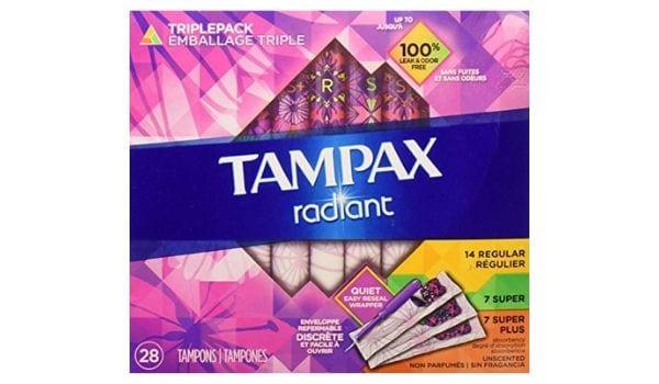 Tampax Radiant Super Plus for Heavy Flow