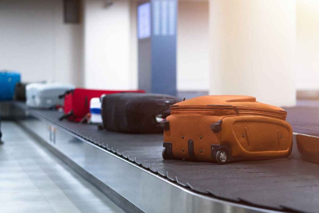 Pierre Cardin Luggage Brown on belt