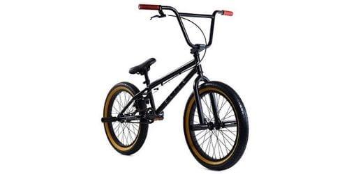 Elite 20' BMX Bicycle The Stealth Freestyle Bike (Black Gum)