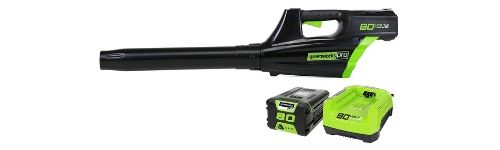 Greenworks Pro 80V Cordless Brushless Axial Blower Battery and Rapid Charger