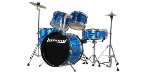 The Ludwig junior is another beginner drum kit