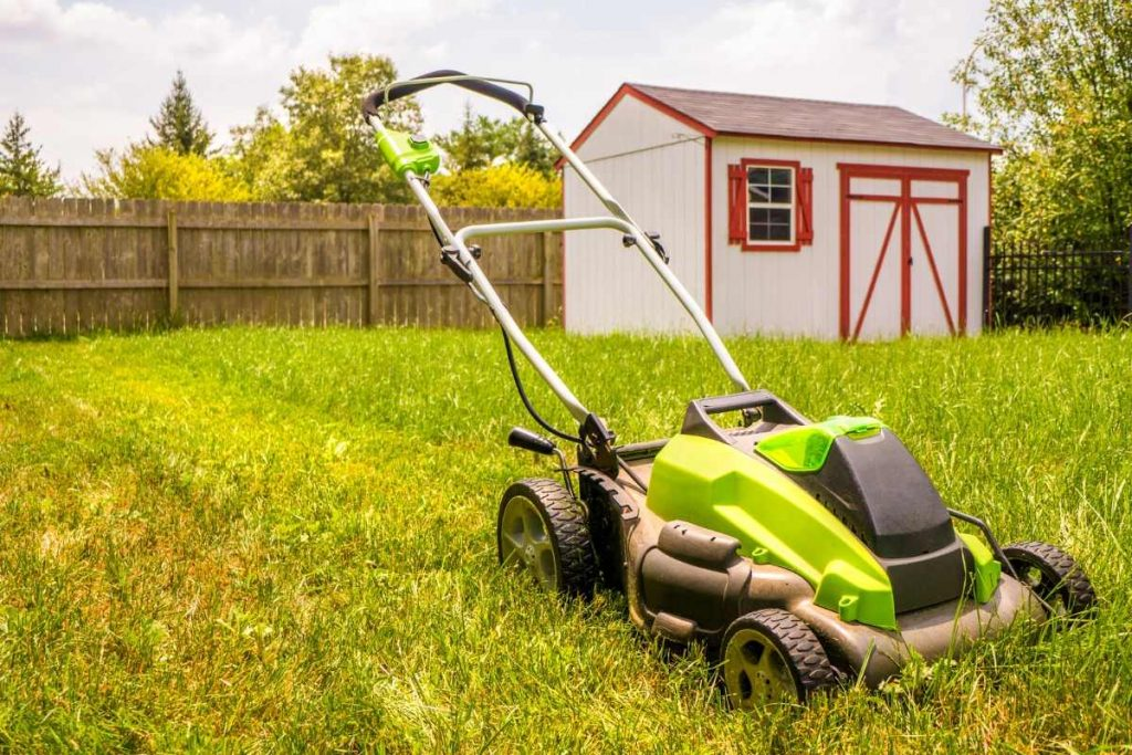 Self Propelled Lawn Mower for green grass