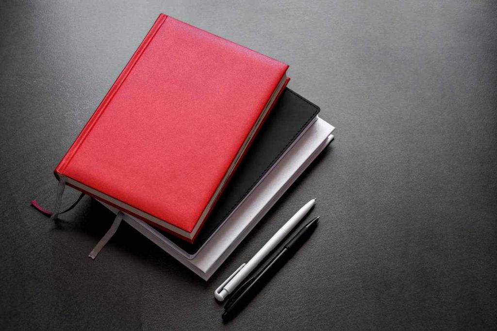 Portfolio notebook laying on the table.n the