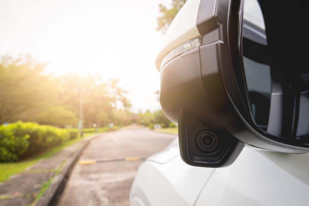 Wireless Backup camera install on car side mirror