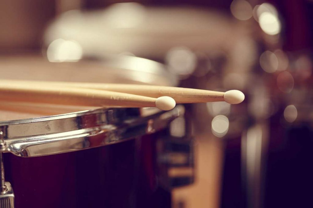 A drum with two sticks