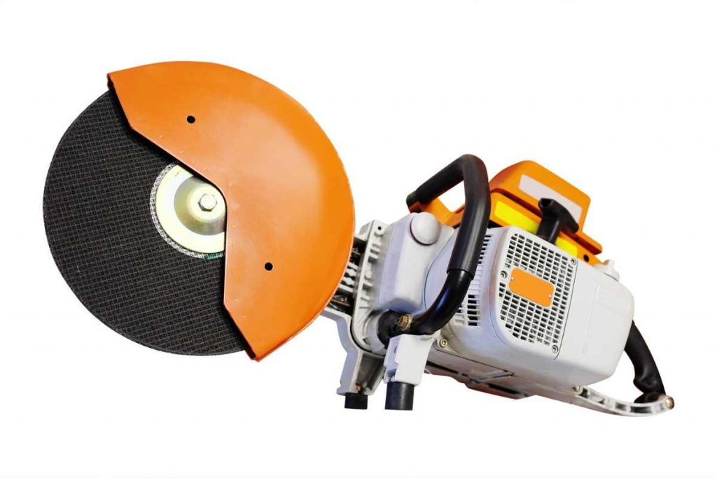 A circular saw with white background