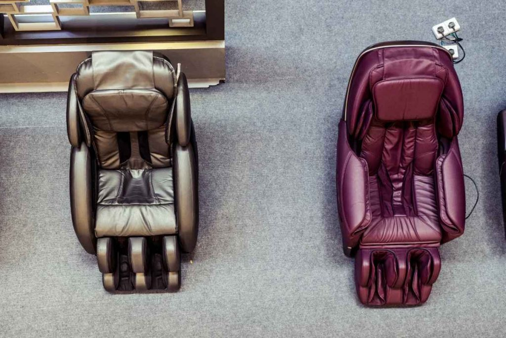 Two massage chairs from top view