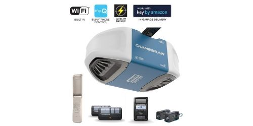 As the name very much suggests, this chamberlain premium garage door opener has got all that you need. This is one of the best smart garage door openers that offers built-in WiFi technology.