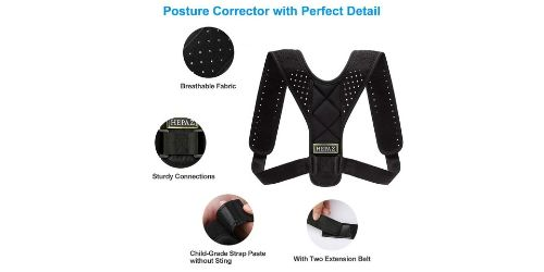 It is a posture corrector that significantly realigns your posture after use.
