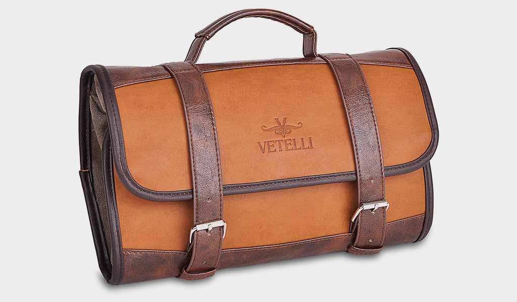 Vetelli Hanging Toiletry Bag for Men - Dopp Kit Travel