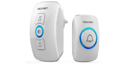 this wireless doorbell by Tecknet is just the thing to satisfy both our requirements.
