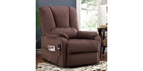 This is a recliner that could blend with your exotic set of furniture of living room or lounge.