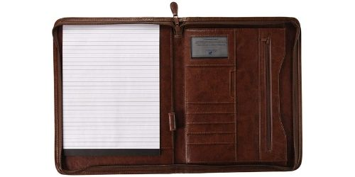 ExecutiLeather Business Resume Portfolio Padfolio Organizer with iPad Mini or Tablet Sleeve Holder