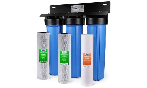 Prepared with grade three-phase filtration, iSpring WGB32B filtration system