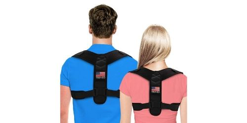 Men and women with back brace on their back