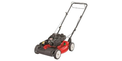 This bright colored Husqvarna Honda Walk Behind Self-Propelled lawn mower for sale