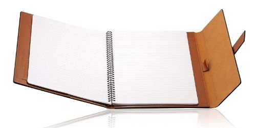 This padfolio is constructed ideally for notes taking.