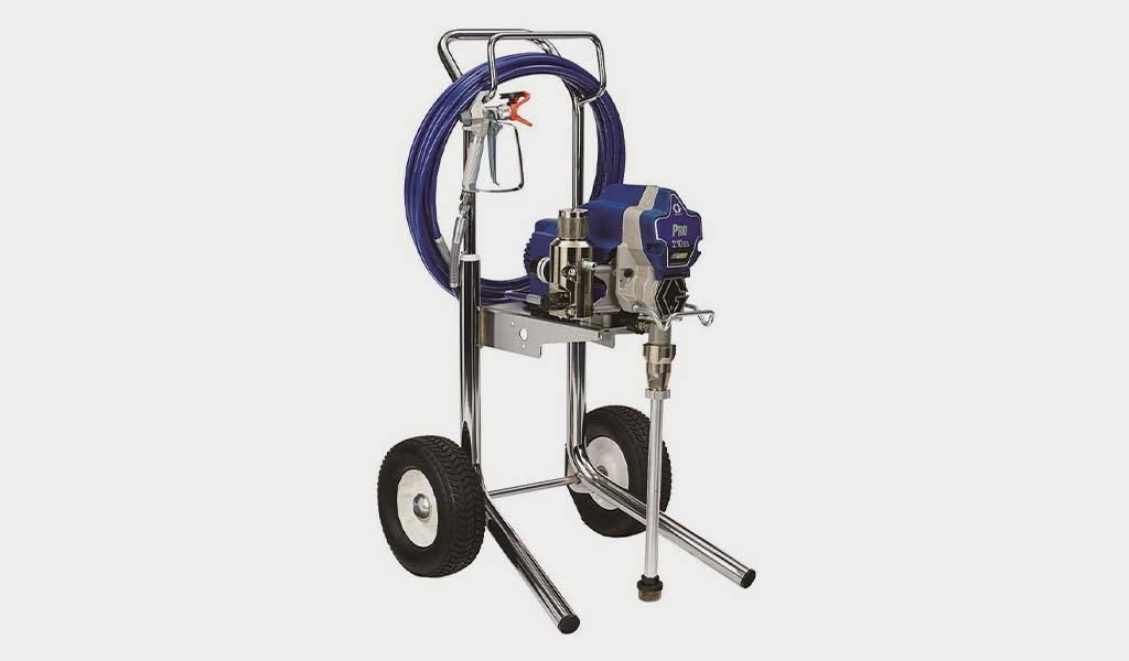 Graco Pro210ES-Pro Connect Paint Sprayer with a Cart
