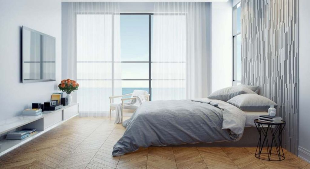 The cool design of room with best comforter set