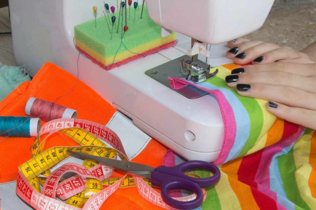 A durable sewing machine with necessary equipment