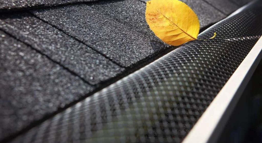 A Gutter Guards is blocking the leaves