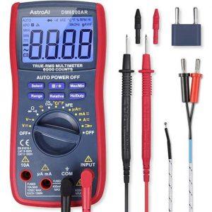 AstroAI Digital Multimeter, TRMS 6000 Counts Volt Meter Manual Auto Ranging