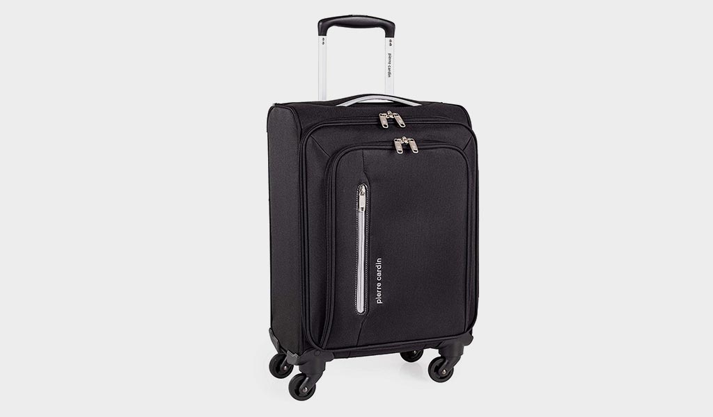 Soft Shell Suitcase with Durable Wheels- Cion by Pierre Cardin