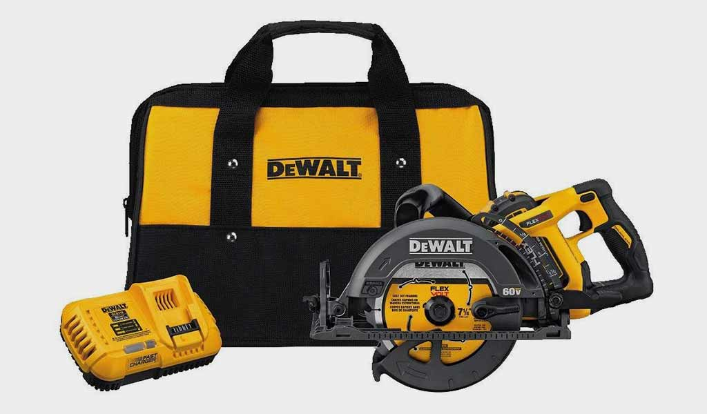 DEWALT DCS577X1 FLEXVOLT 60V MAX Worm Style Saw Kit