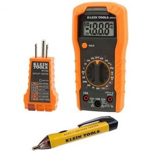 Klein Tools Electrical Test Kit with Multimeter, Non-Contact Voltage Tester and Receptacle