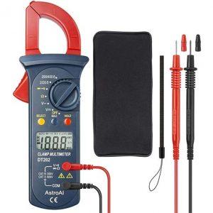 AstroAI Digital Clamp Meter, Multimeter Volt Meter with Auto Ranging; Measures Voltage Tester