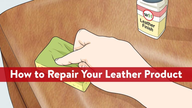 How to Repair Your Leather Product