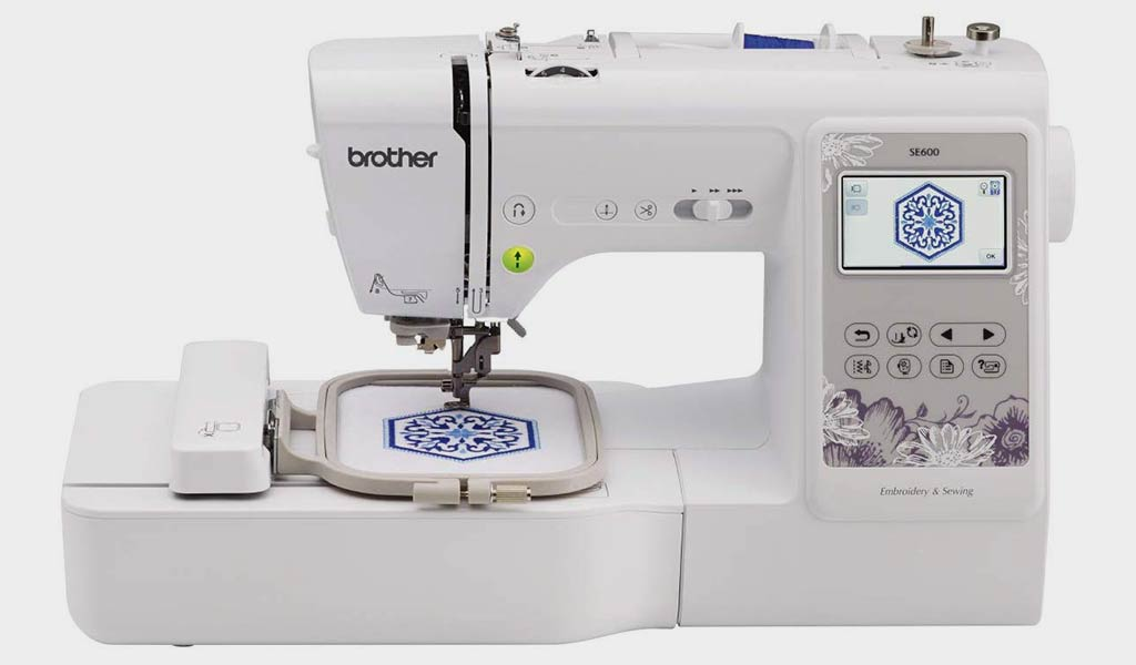 """Brother, SE600, Computerized Machine with 4"""" x 4"""" Area, 80 Embroidery Designs"""