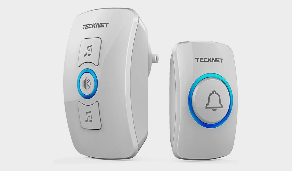 Wireless Doorbell, TeckNet Wireless Door Bell Chime Kit with LED Light