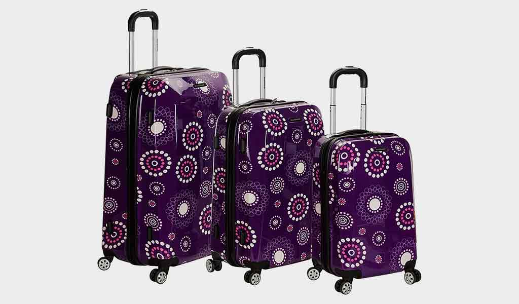 Rockland Luggage Vision Polycarbonate 3 Piece Luggage Set