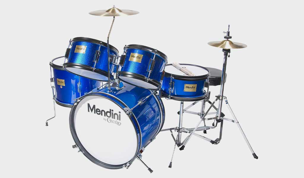 Mendini Junior Drum Set with an Adjustable Throne