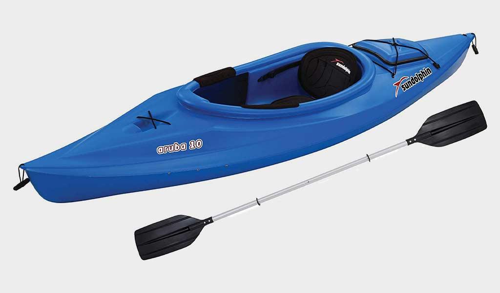 SUNDOLPHIN Sun Dolphin Aruba 10-Foot Sit-in Fishing Kayak
