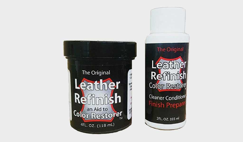 Leather Refinish Color Restorer Dye - Cleaner/Preparer Combo Kit