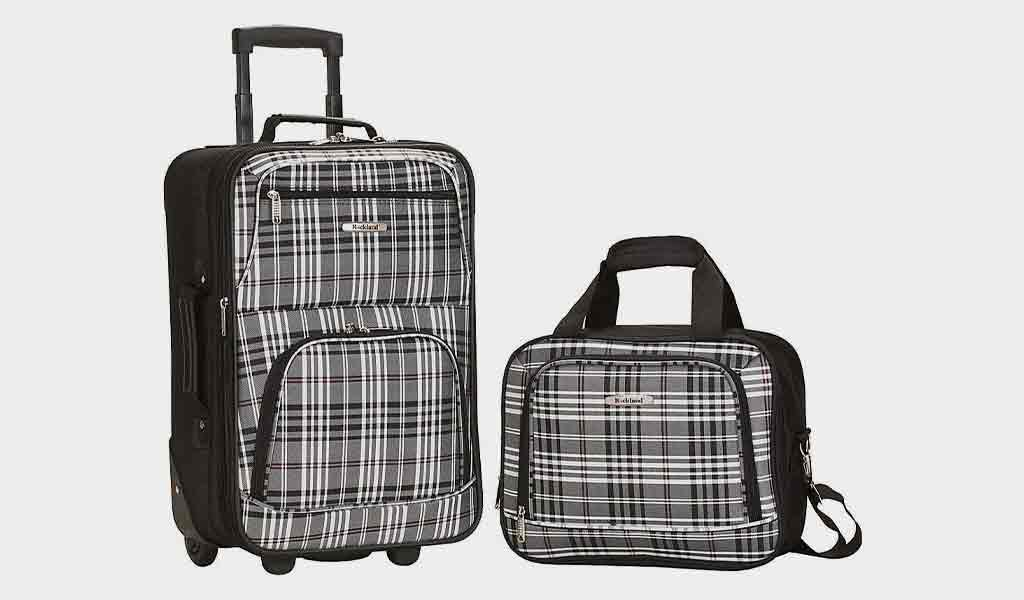 Rockland 2 PC Luggage Set BLACKCROSS