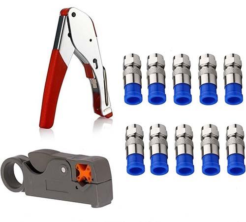 Gaobige Coax Cable Crimper Kit Tool