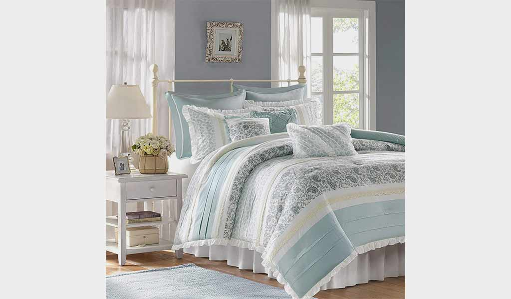9 Piece King Comforter Set - Madison Park Dawn